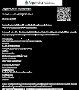 Certificado para circular